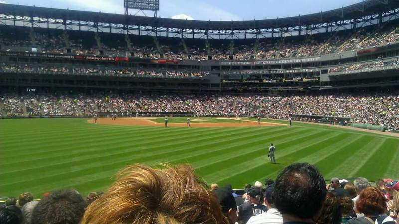 Seating view for Guaranteed Rate Field Section 160 Row 12 Seat 15