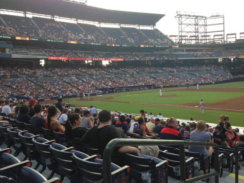 Seating view for Turner Field Section 117 Row 21 Seat 1