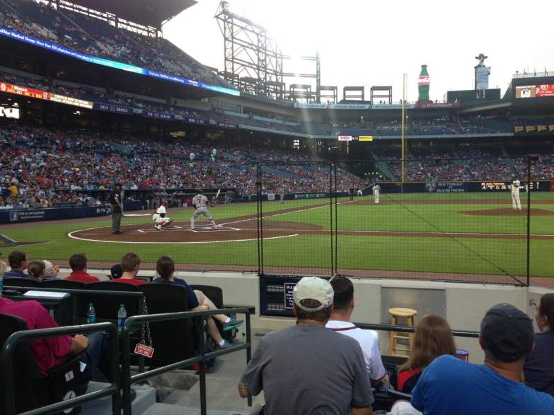 Seating view for Turner Field Section 107 Row 5 Seat 2
