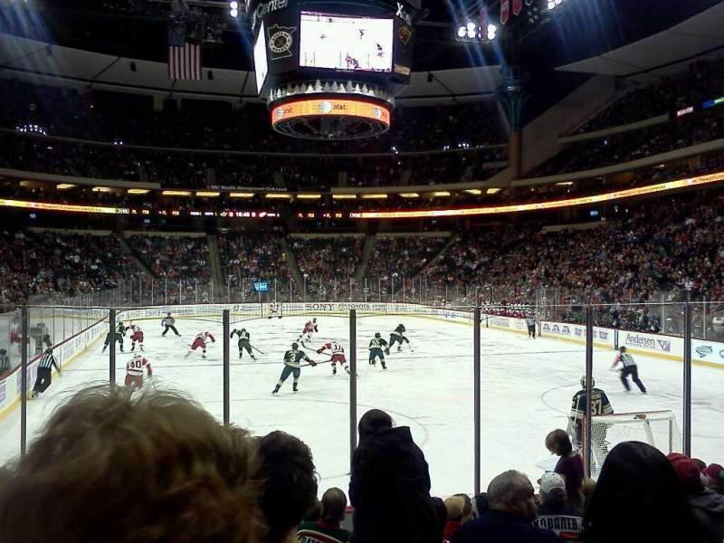 Seating view for Xcel Energy Center Section 124 Row 10 Seat 6