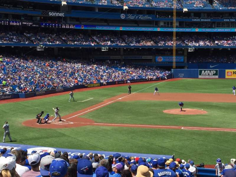 Seating view for Rogers Centre Section 117R Row 34 Seat 1-4