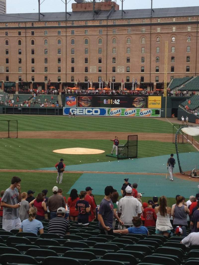 Oriole Park At Camden Yards Section 48 Home Of Baltimore