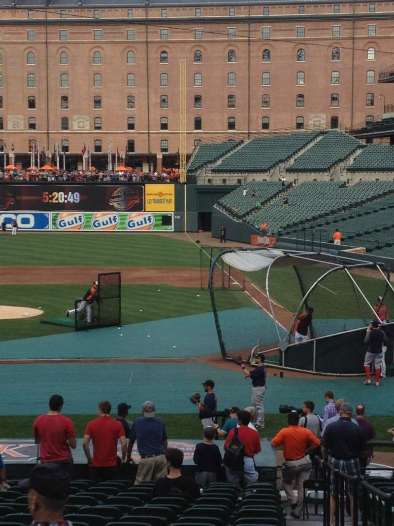 Seating view for Oriole Park at Camden Yards Section 48 Row 20 Seat 1-4