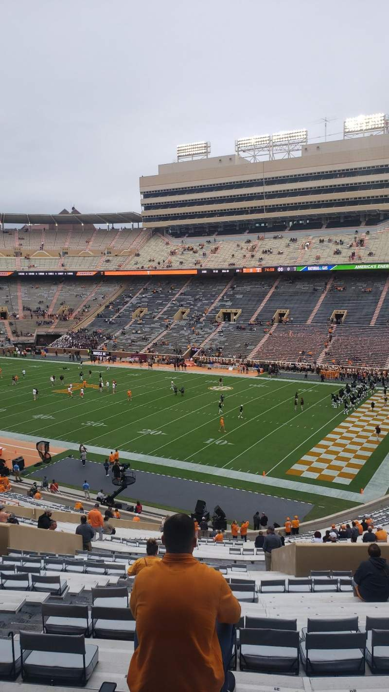 Seating view for Neyland Stadium Section Q Row 54 Seat 23