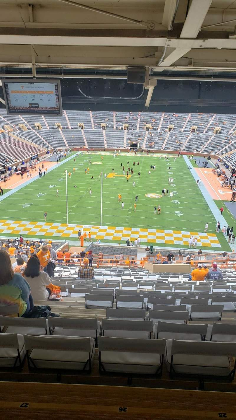 Seating view for Neyland Stadium Section Y7 Row 54 Seat 26