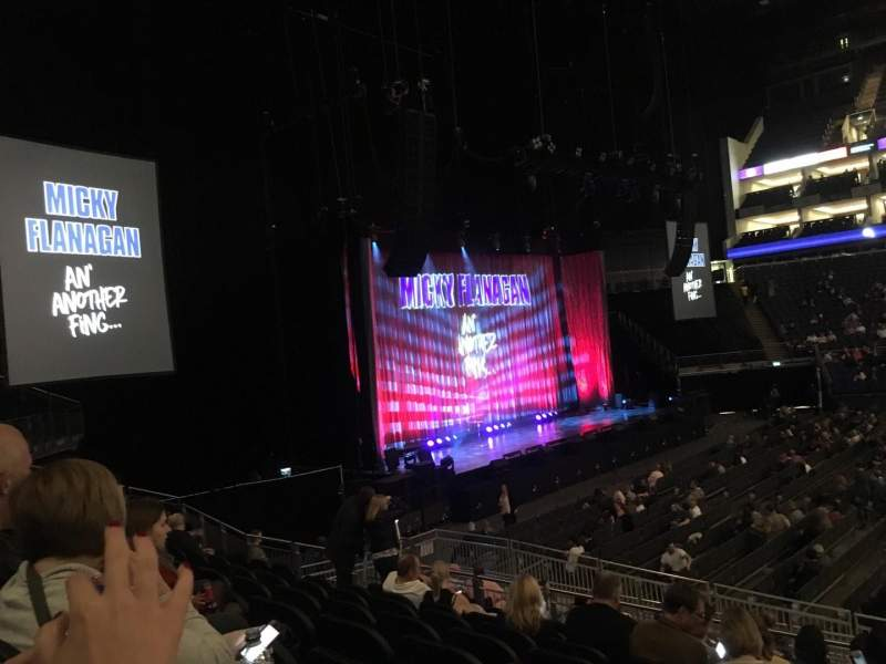 The O2 Arena, section: 101, row: Q, seat: 42