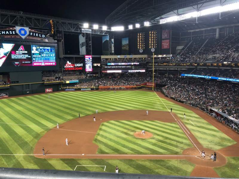 Seating view for Chase Field Section 321 Row 1 Seat 18