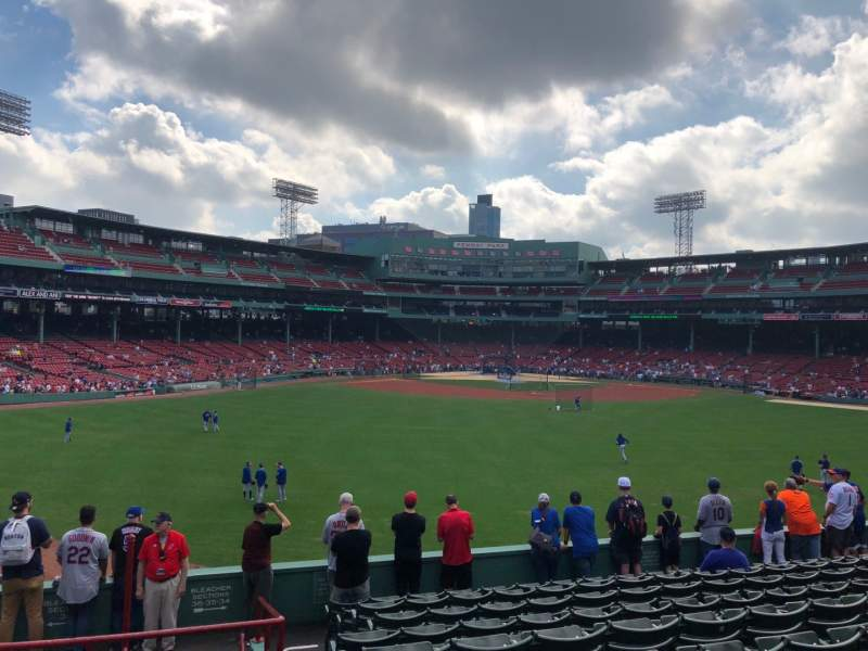 Seating view for Fenway Park Section Bleacher 36 Row 12 Seat 25