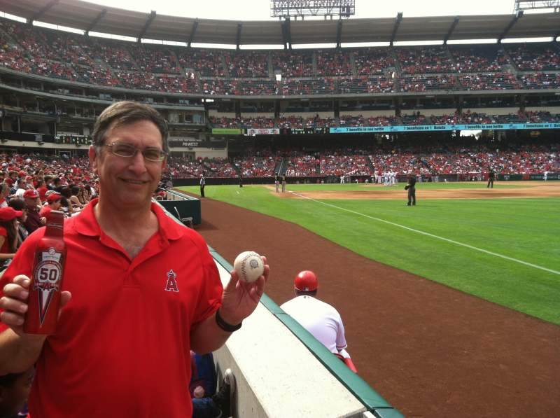 Seating view for Angel Stadium Section F130 Row A Seat 1