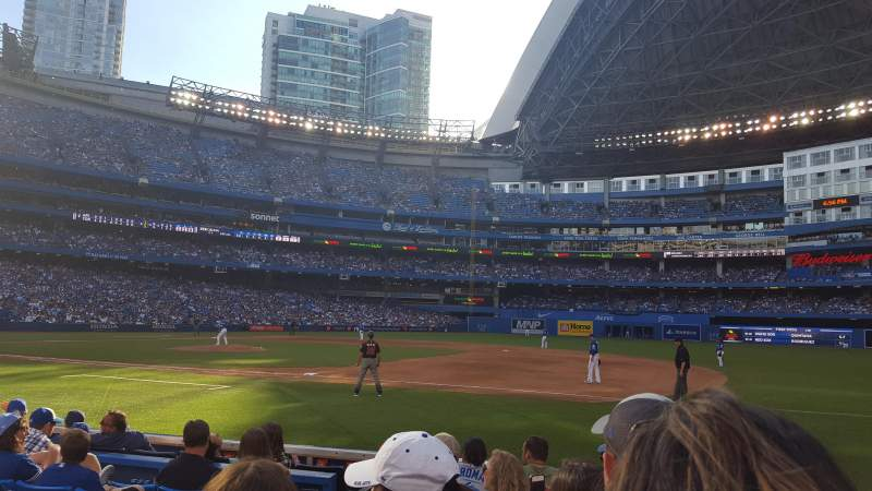 Seating view for Rogers Centre Section 115R Row 7 Seat 3