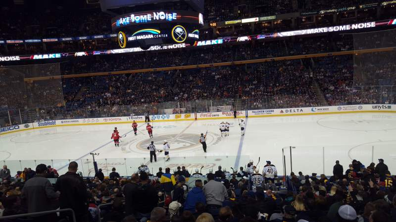 Seating view for KeyBank Center Section 105 Row 21 Seat 13