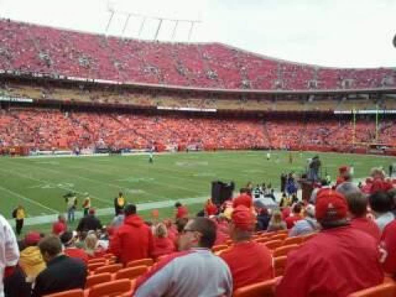 Seating view for Arrowhead Stadium Section 122 Row 18 Seat 18