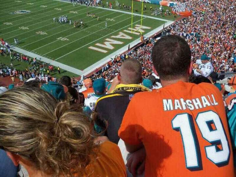 Seating view for Sun Life Stadium Section 434 Row 10 Seat 7