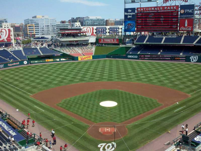 Seating view for Nationals Park Section 314 Row A Seat 17