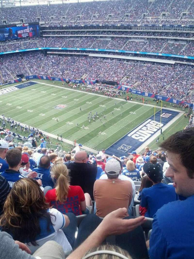 Seating view for MetLife Stadium Section 307 Row 23 Seat 19