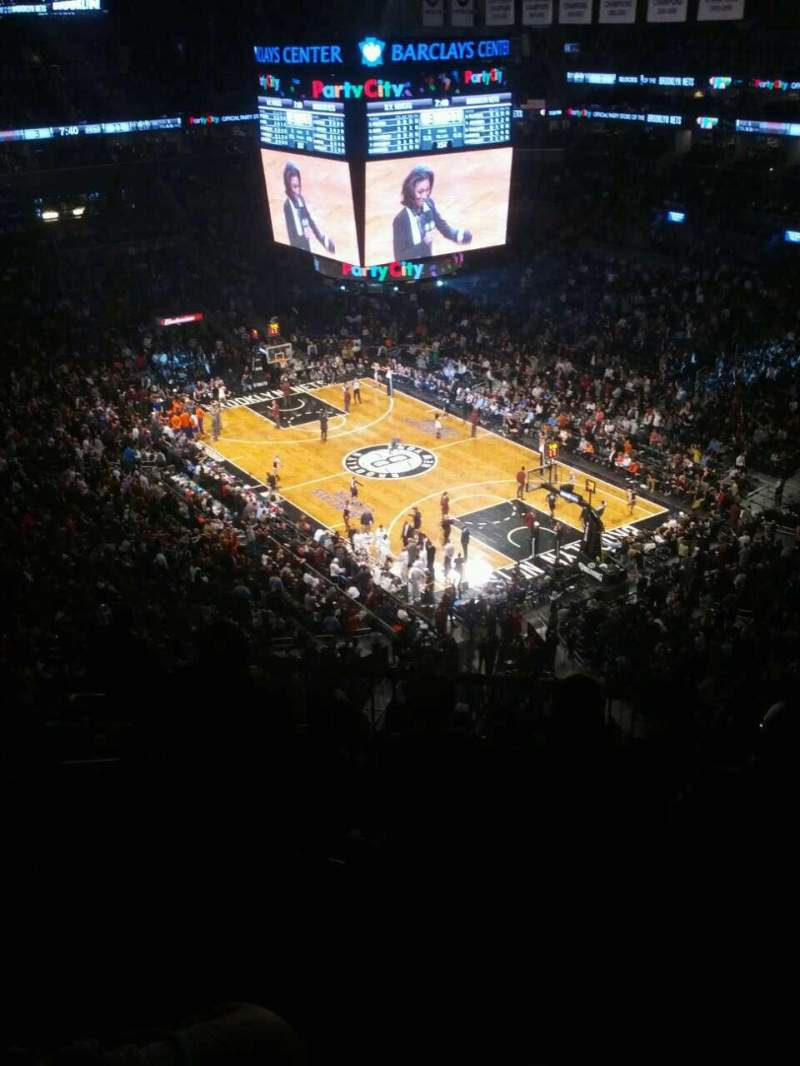 Seating view for Barclays Center Section 203 Row 12 Seat 11