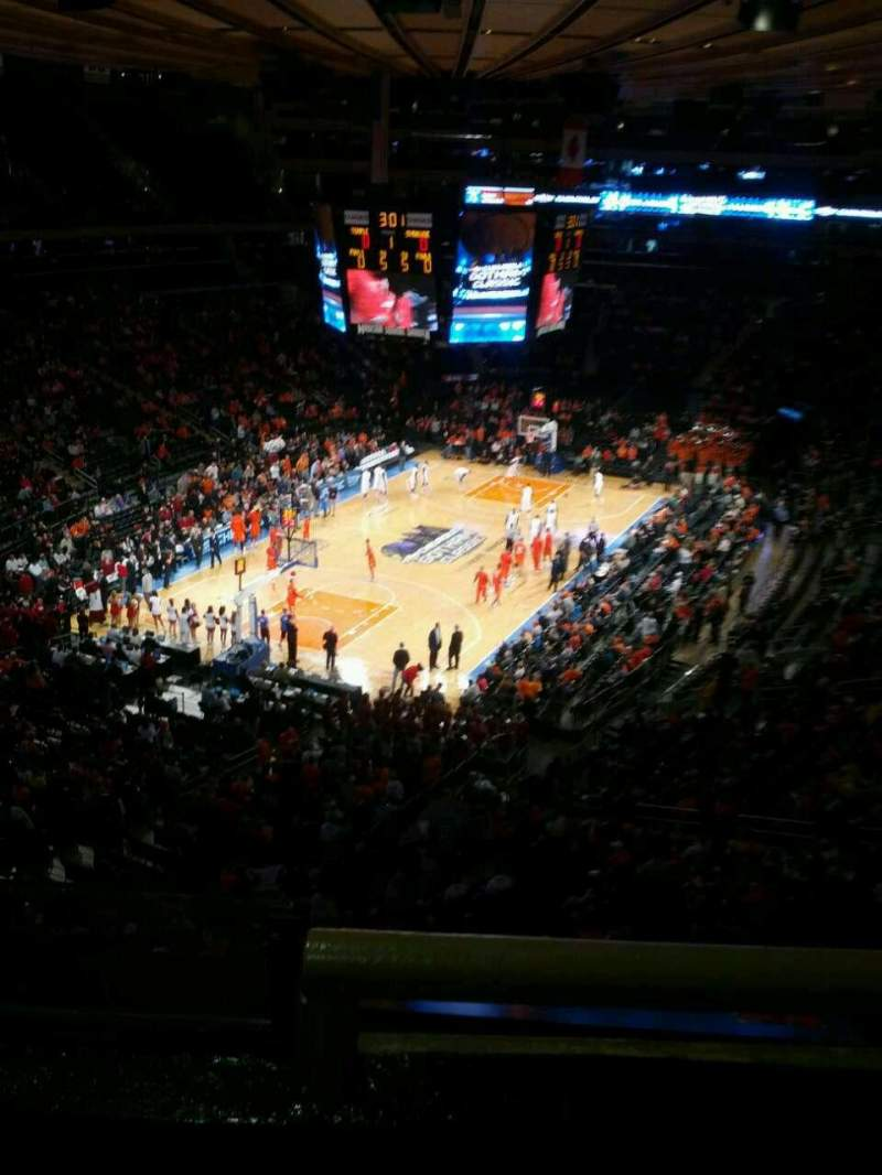 Seating view for Madison Square Garden Section 419 Row 2 Seat 3
