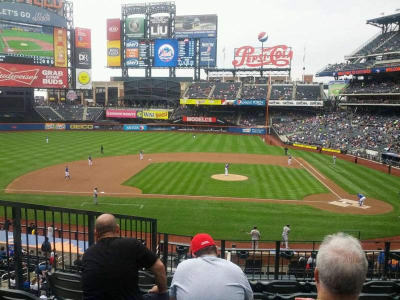Seating view for Citi Field Section 120 Row 6 Seat 10