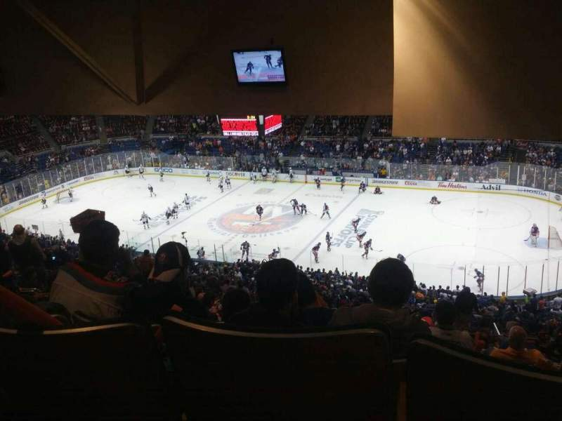 Seating view for Old Nassau Veterans Memorial Coliseum Section 340 Row T Seat 8