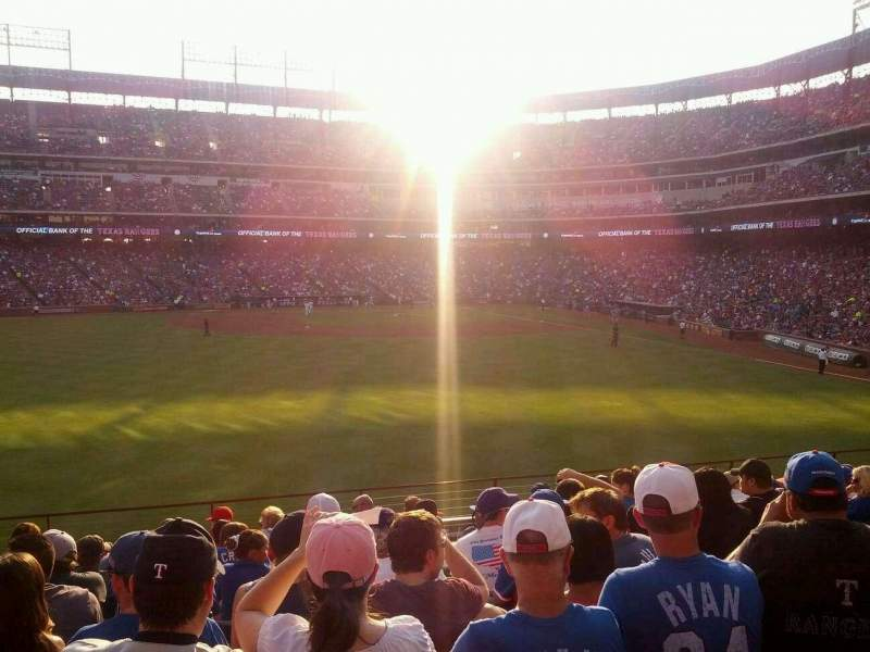 Seating view for Globe Life Park in Arlington Section 4 Row 11