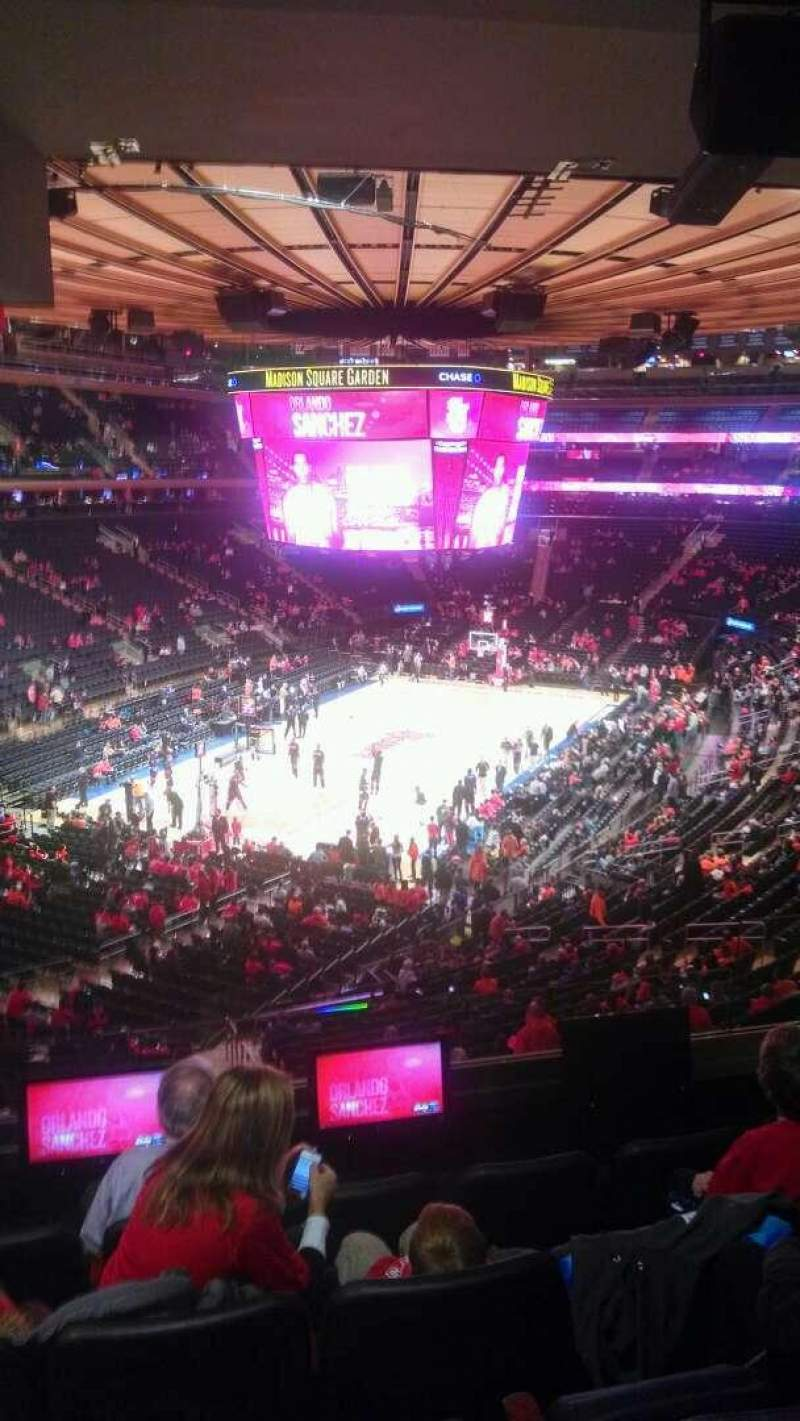 Seating view for Madison Square Garden Section 206 Row 5 Seat 13