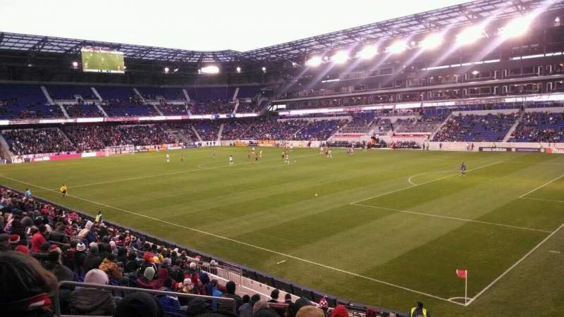 Seating view for Red Bull Arena (New Jersey) Section 122 Row 16 Seat 17