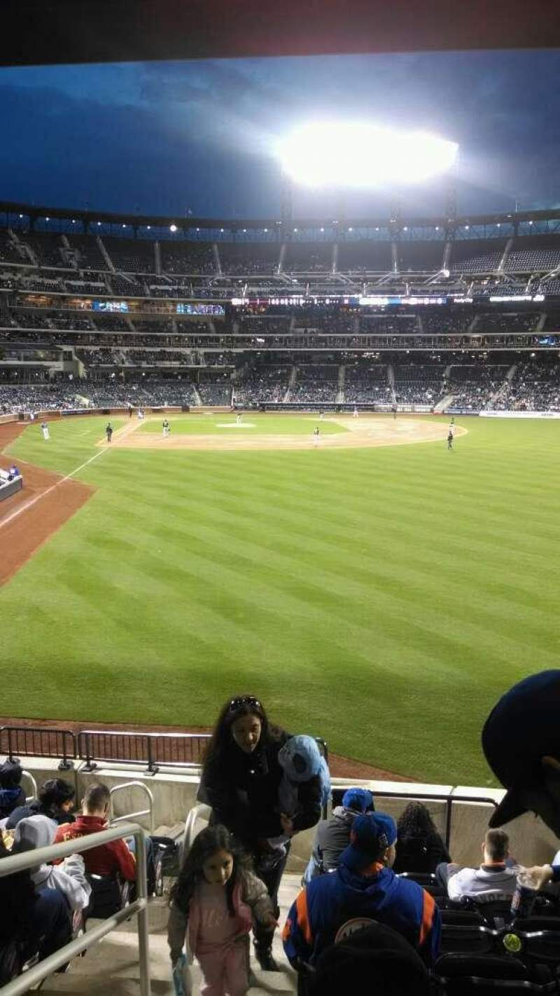 Seating view for Citi Field Section 102 Row 11 Seat 1