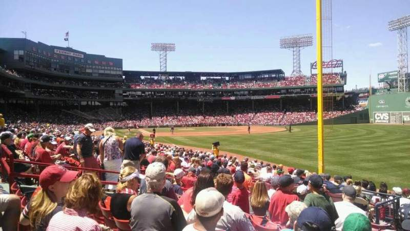 Seating view for Fenway Park Section Right Field Box 93 Row MM Seat 10