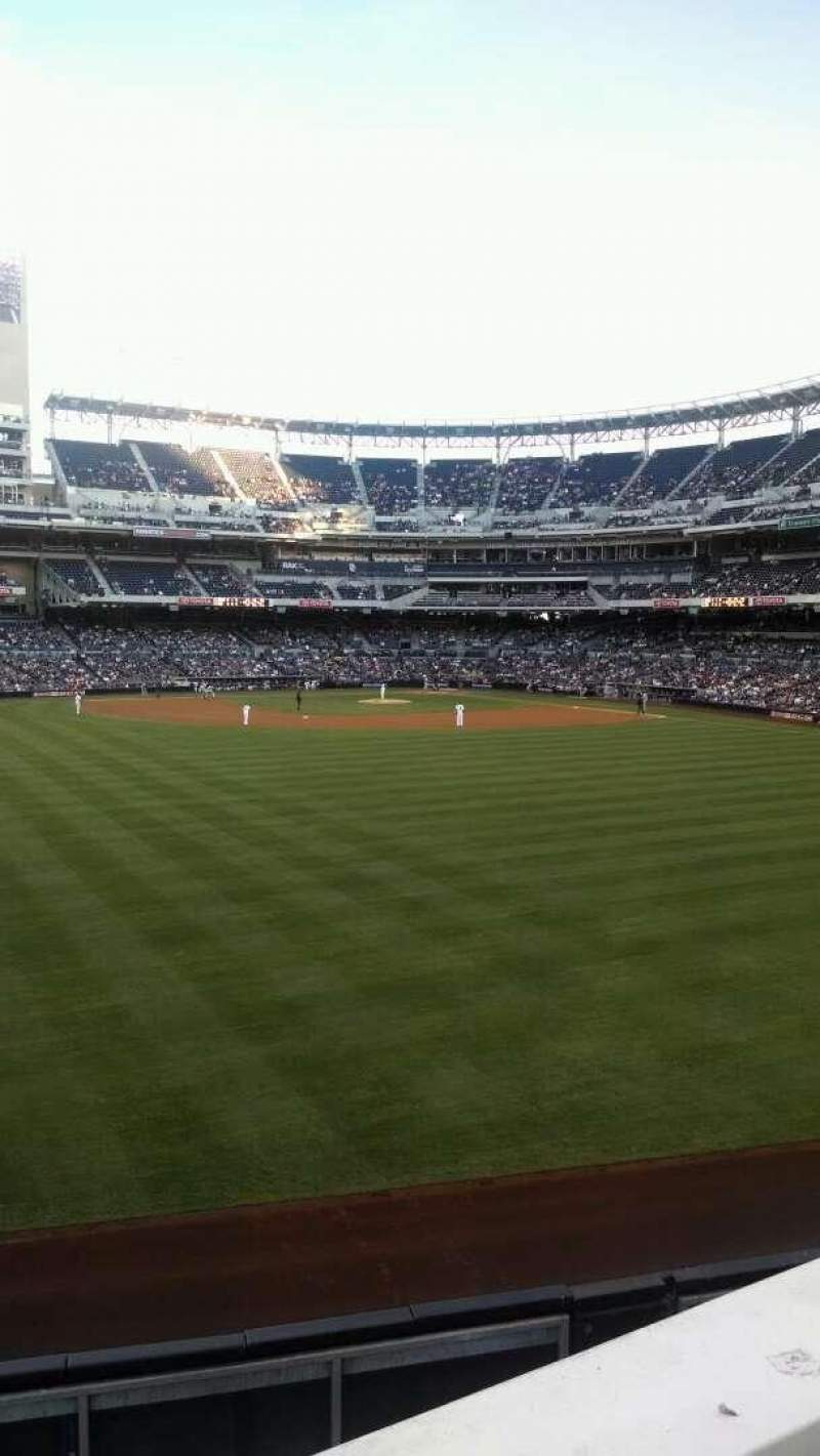 Seating view for PETCO Park Section 230 Row 1 Seat 12
