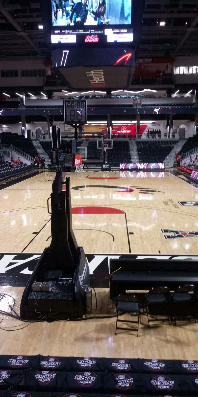 Seating view for Fifth Third Arena Section 122 Row 8 Seat 6