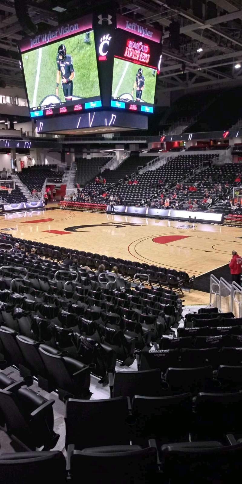Seating view for Fifth Third Arena Section 101 Row 15 Seat 6