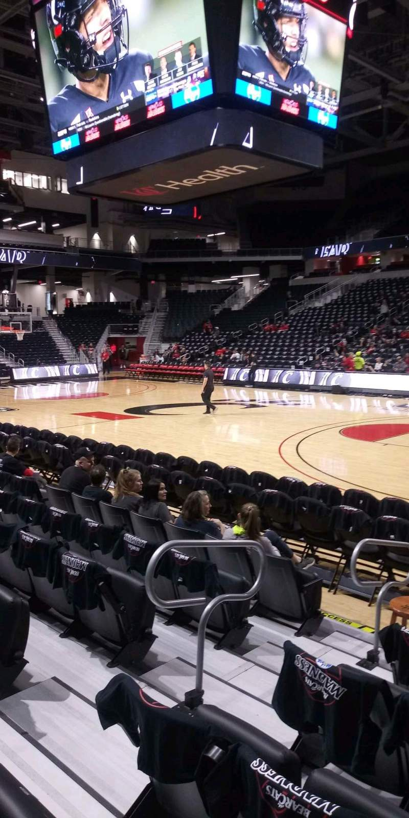 Seating view for Fifth Third Arena Section 102 Row 6 Seat 7