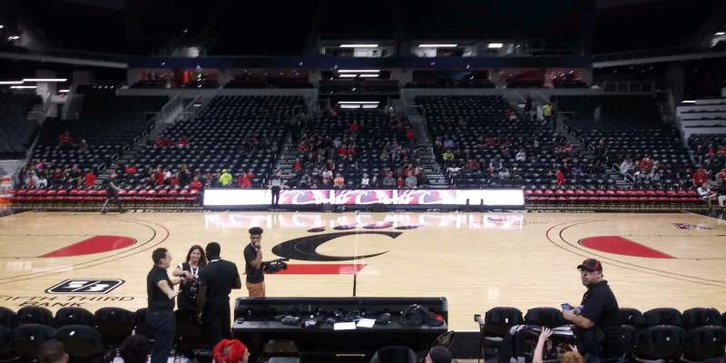 Seating view for Fifth Third Arena Section 104 Row 7 Seat 9