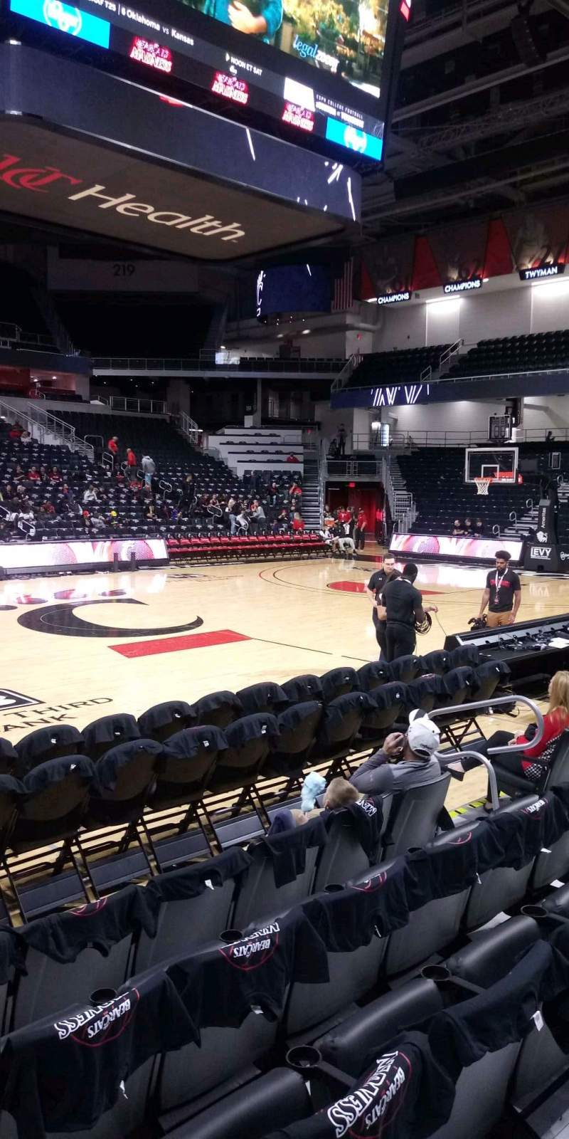 Seating view for Fifth Third Arena Section 105 Row 5 Seat 8