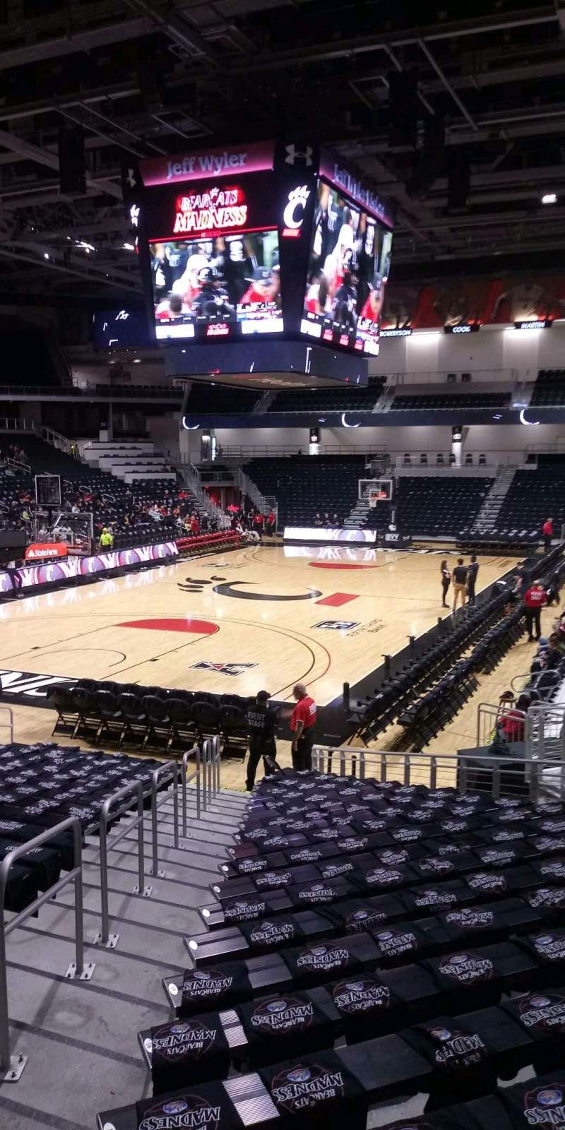 Seating view for Fifth Third Arena Section 108 Row 22 Seat 13