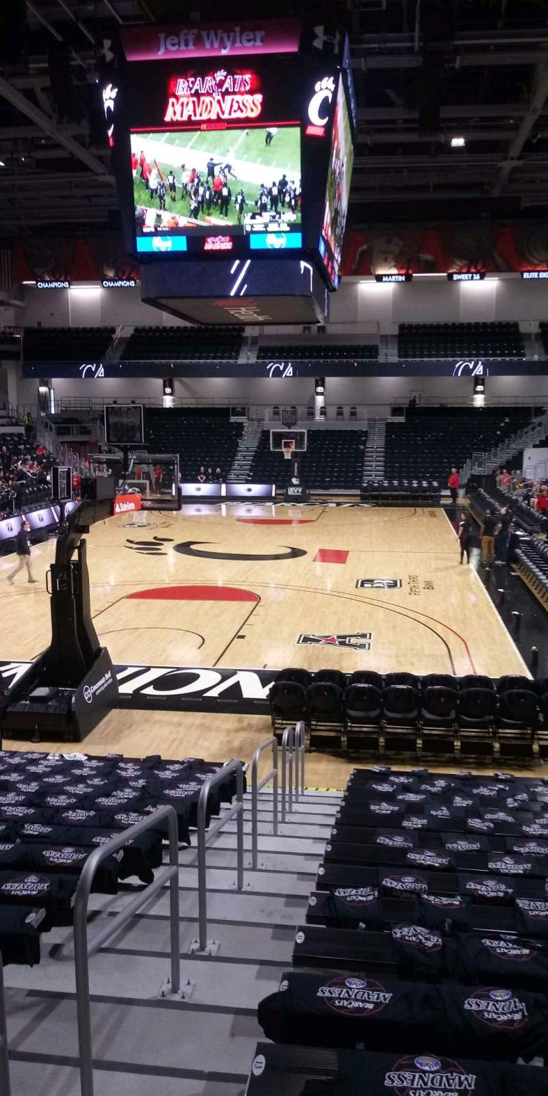 Seating view for Fifth Third Arena Section 109 Row 15 Seat 18