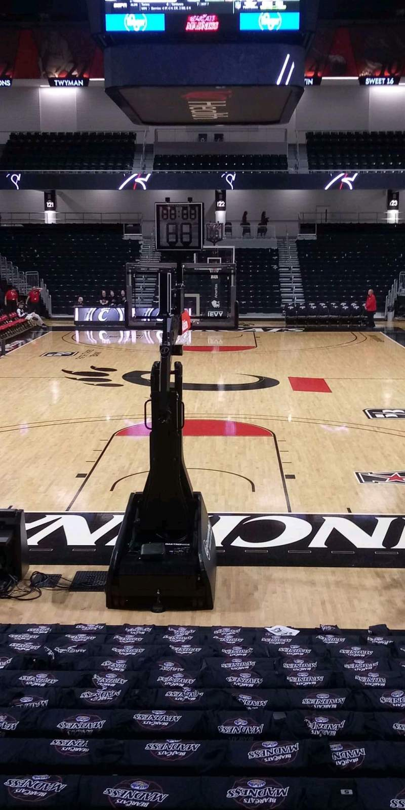 Seating view for Fifth Third Arena Section 110 Row 16 Seat 6