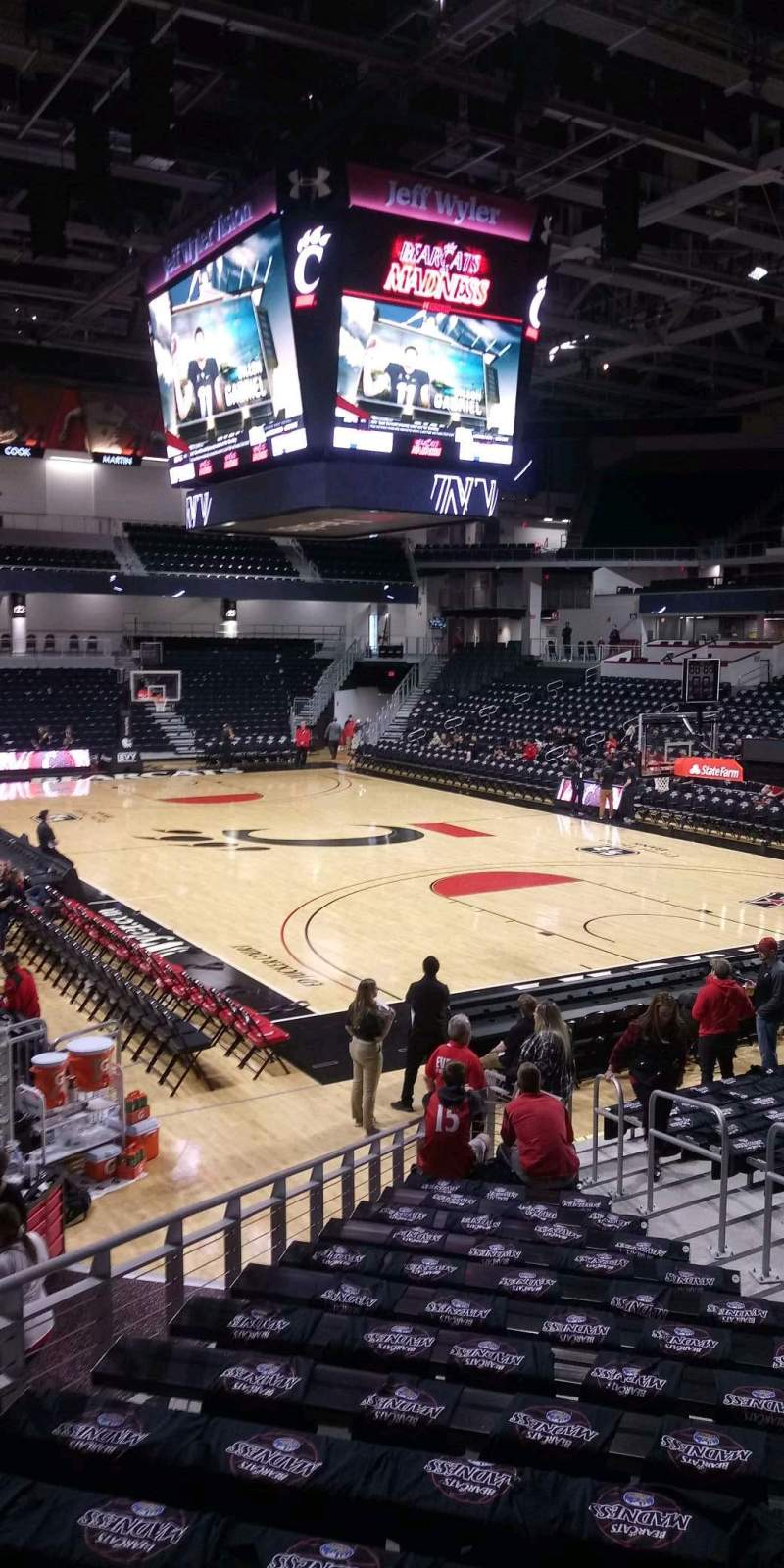 Seating view for Fifth Third Arena Section 112 Row 20 Seat 7