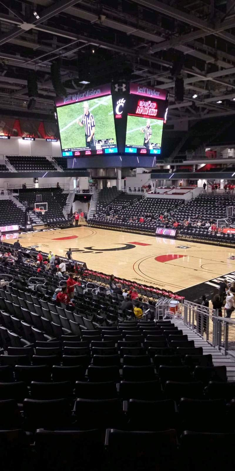 Seating view for Fifth Third Arena Section 113 Row 23 Seat 4