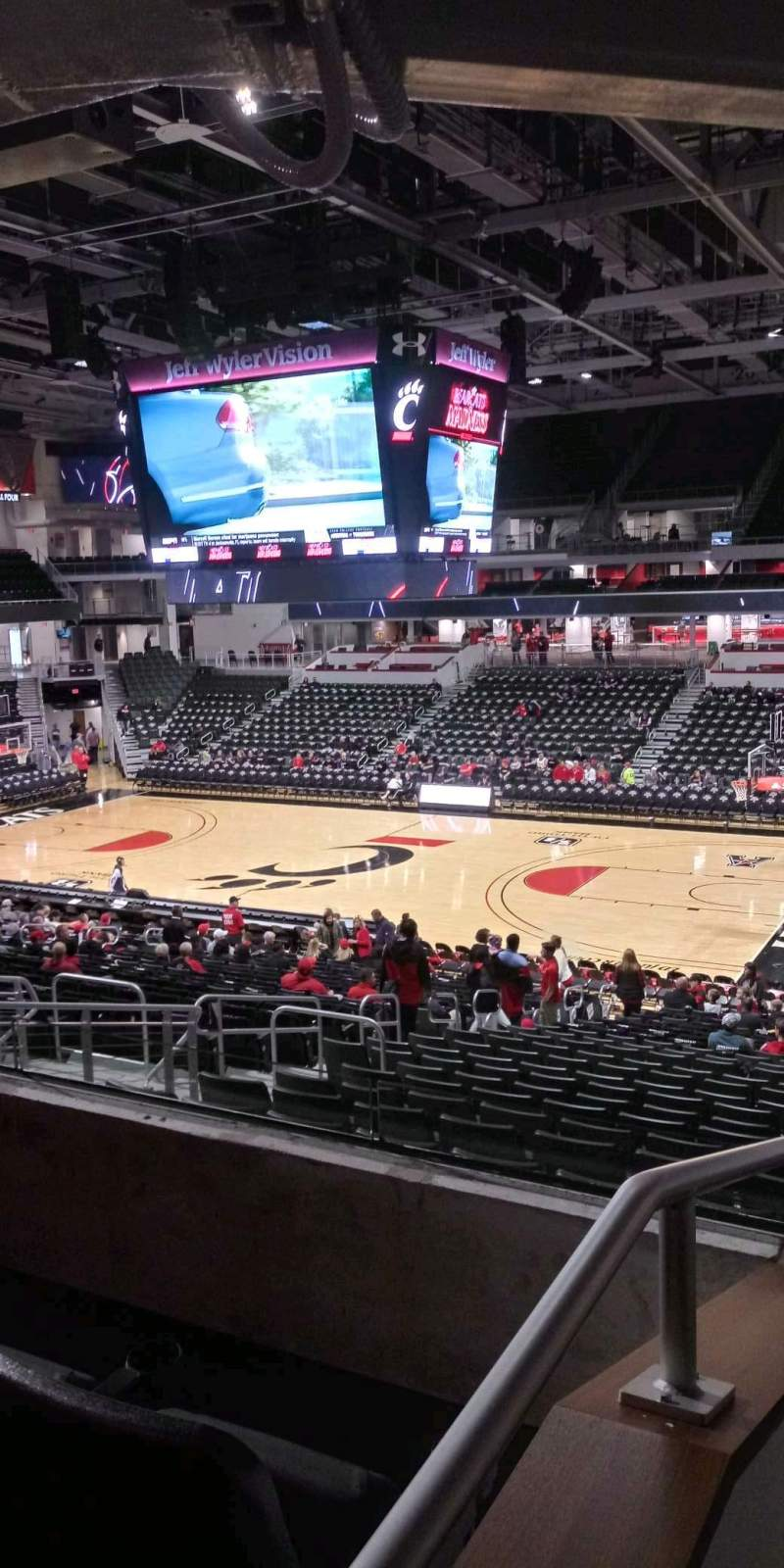 Seating view for Fifth Third Arena Section 114 Row 27 Seat 9