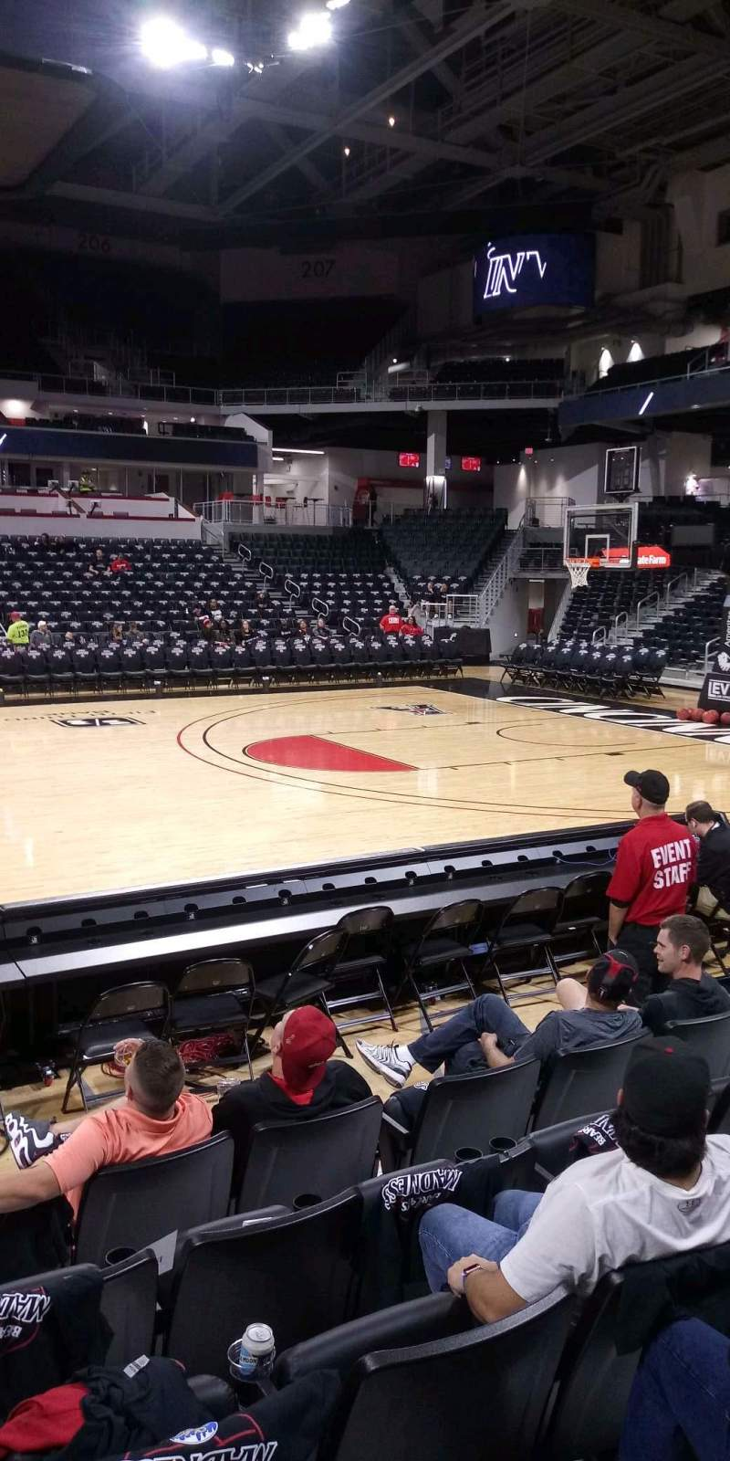 Seating view for Fifth Third Arena Section 116 Row 6 Seat 7
