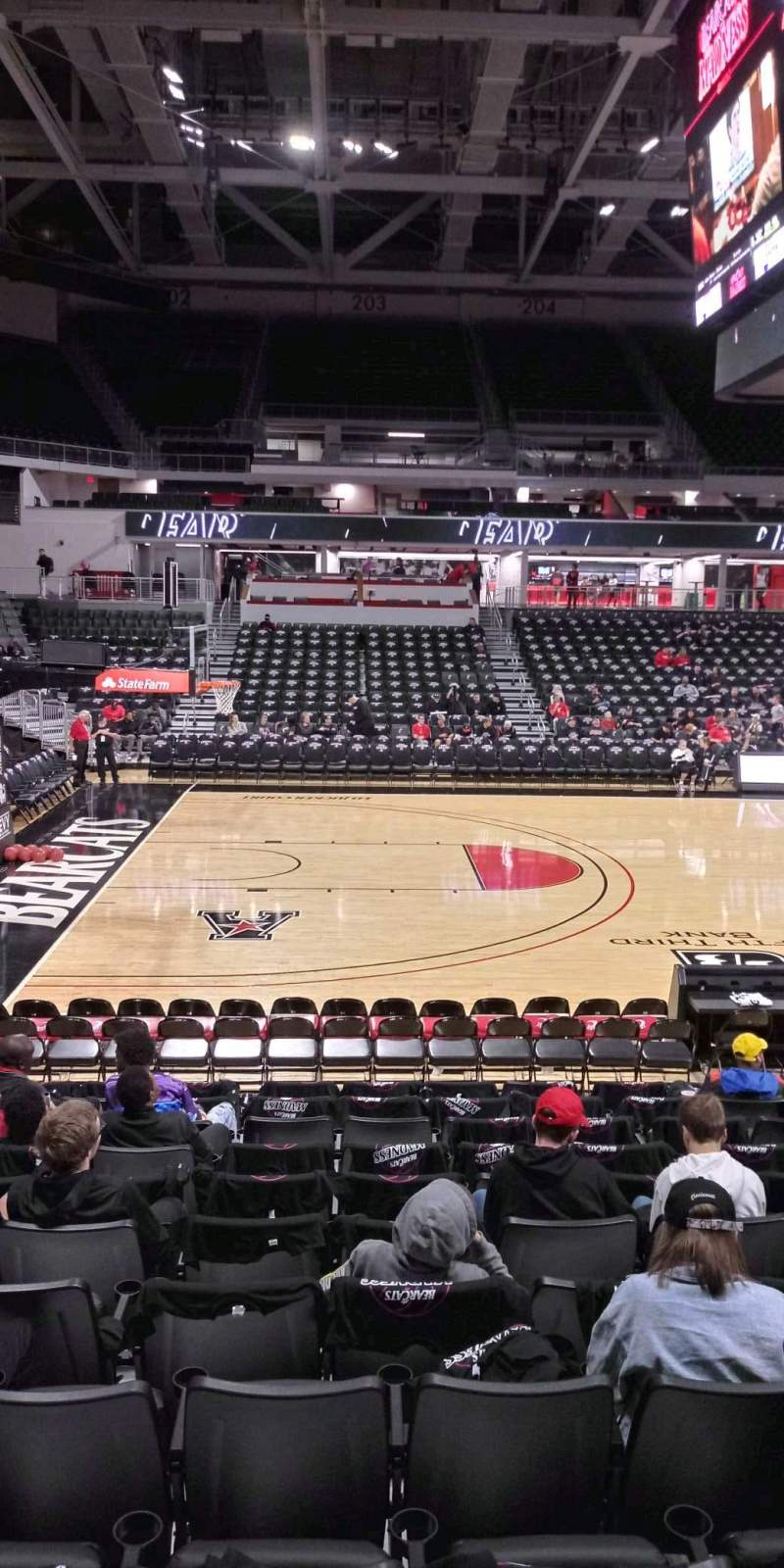 Seating view for Fifth Third Arena Section 117 Row 12 Seat 12