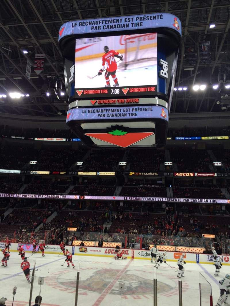 Seating view for Canadian Tire Centre Section 116 Row K Seat 3