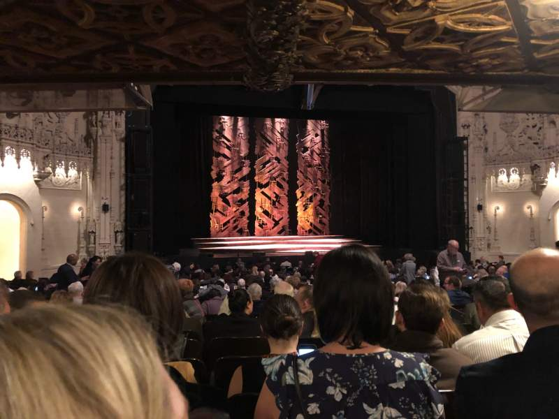 Seating view for Orpheum Theatre (San Francisco) Section Orchestra LC Row AA Seat 117