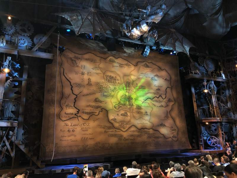 Seating view for Gershwin Theatre Section Orchestra L Row H Seat 2