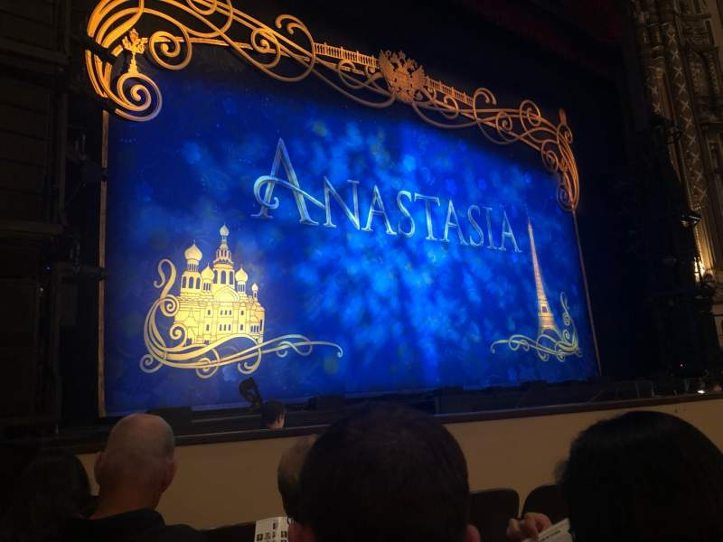 Seating view for Golden Gate Theatre Section Orchestra L Row D Seat 13