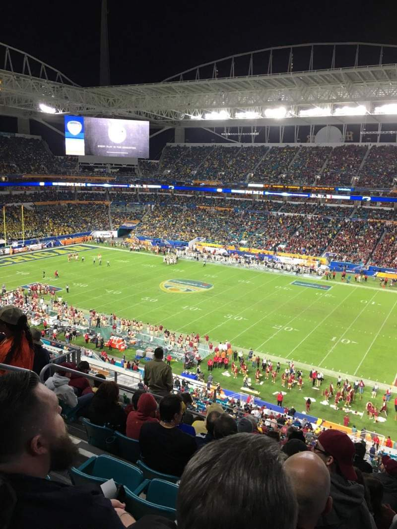 Seating view for Hard Rock Stadium Section 342 Row 9 Seat 16