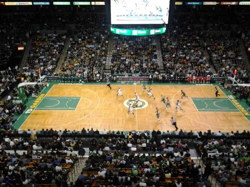 Seating view for TD Garden Section Bal 316 Row 1 Seat 12