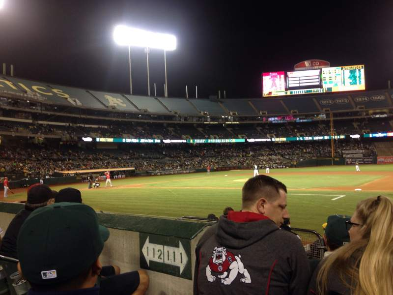 Seating view for Oakland Alameda Coliseum Section 111 Row 7 Seat 11