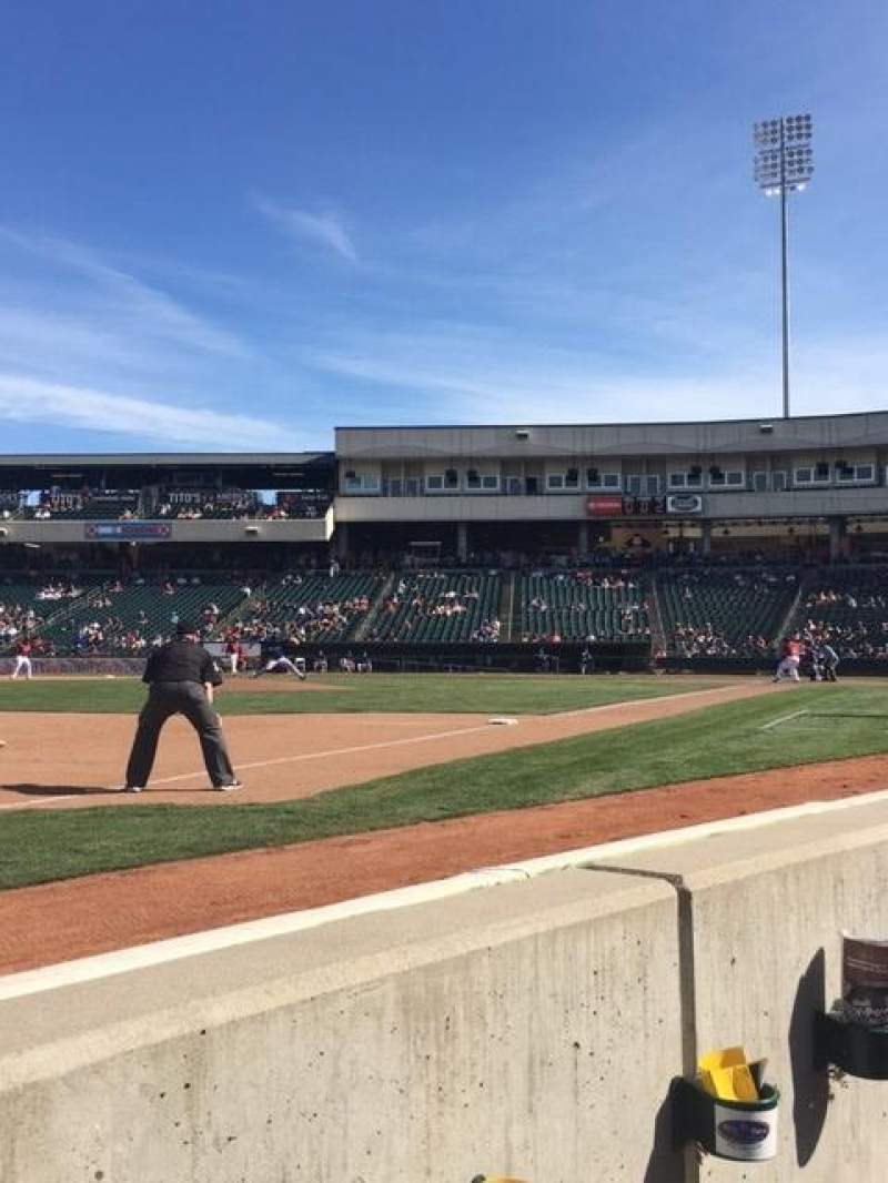 Seating view for Raley Field Section 121 Row BB Seat 11-12